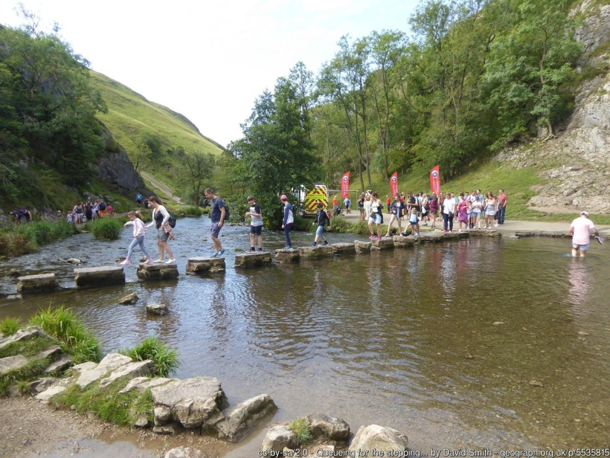 Easy Walk to the Dovedale Stepping Stones from the Car Park